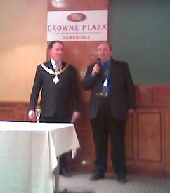 David Boventer (ESWC) chats to the Lord Mayor of Cambridge