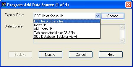 Add Data Source Wizard (step 1)
